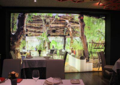 Terraza del Restaurante Raza 7 en Madrid (Barajas)